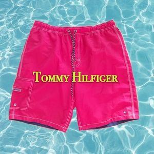 Tommy Hilfiger Red Swim Pants L for Men